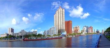 Panoramiczny widok miłości rzeka w Kaohsiung zdjęcie royalty free