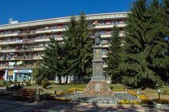 Panoramiczny widok miasteczko Etropole, Sofia prowincja, Bułgaria zdjęcie royalty free