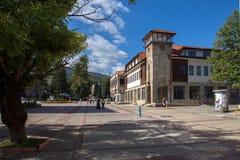 Panoramiczny widok miasteczko Etropole, Sofia prowincja, Bułgaria obraz royalty free