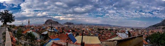 Panoramiczny widok miasto Afyonkarahisar Fotografia Stock
