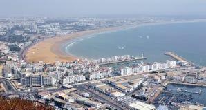 Panoramiczny widok miasto Agadir w Maroko Zdjęcie Royalty Free