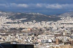 Panoramiczny widok miasto Ateny od akropolu, Attica, Grecja obraz royalty free