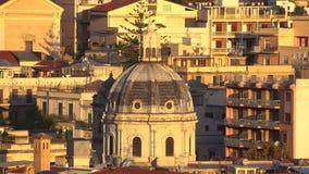 PANORAMICZNY widok miasto królewiątko w Sicily w 4k MESSINA, WŁOCHY, LISTOPAD 06 i Świątynny Chrystus -, 2018 - zdjęcie wideo