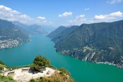 Panoramiczny widok miasto Lugano Obraz Royalty Free
