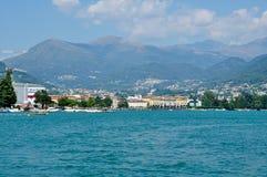 Panoramiczny widok miasto Lugano Zdjęcie Royalty Free