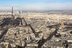 Panoramiczny widok miasto Paryż, Francja Fotografia Royalty Free