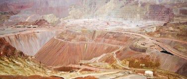 Panoramiczny widok Morenci kopalnia Fotografia Stock