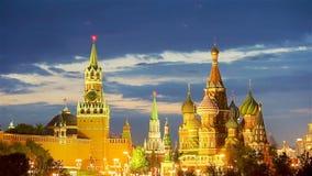 Panoramiczny widok Moskwa punkt zwrotny podczas zmierzchu od Zaryadye parka zbiory