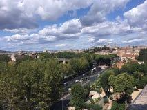 Panoramiczny widok na centrum Rzym miasto od Aventino wzgórza Zdjęcie Stock