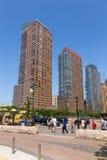 Panoramiczny widok na drapacza chmur Manhattan niskiej linii horyzontu w Miasto Nowy Jork Obraz Royalty Free