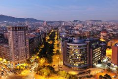Panoramiczny widok na dużym mieście Fotografia Royalty Free