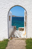 Panoramiczny widok na mykonos wyspie Zdjęcie Royalty Free
