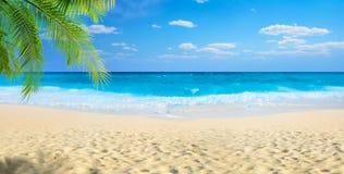 panoramiczny widok na plaży Zdjęcia Stock