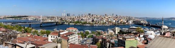 Panoramiczny widok nad Istanbuł, Turcja zdjęcia royalty free