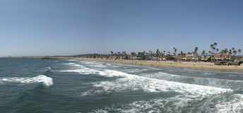 Panoramiczny widok newport beach, orange county - Kalifornia obraz royalty free