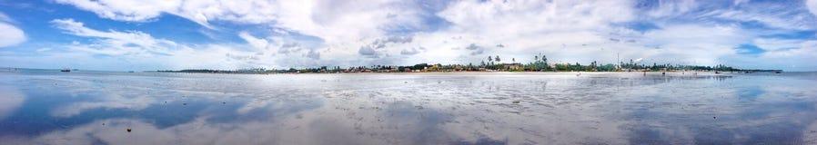 Panoramiczny widok nieba odbicie Zdjęcie Stock