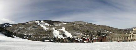 Panoramiczny widok śnieg góry Fotografia Stock