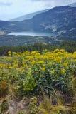 Panoramiczny widok Niski jezioro, Rila góra Siedem Rila jezior Zdjęcie Stock
