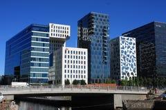 Panoramiczny widok Nowożytni budynki w Oslo, Norwegia zdjęcie royalty free