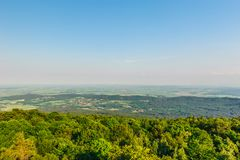 Panoramiczny widok od ÅšlęŠ¼ góra Zdjęcie Royalty Free