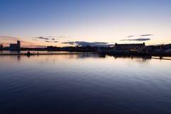 Panoramiczny widok od Bjørvika terenu na wschód od centrum Os, fotografia royalty free