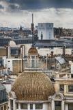 Panoramiczny widok od dachu Paryż budynki i domy beaut obraz royalty free
