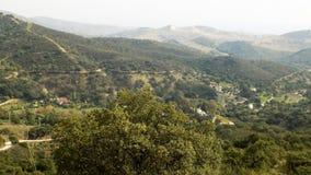 Panoramiczny widok od drogi Casares Zdjęcie Stock