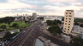 Panoramiczny widok od miasta Foz robi Iguaçu zdjęcie wideo