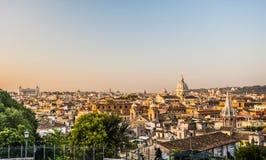 Panoramiczny widok od Pincio, Rzym, Włochy Fotografia Stock