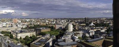 Panoramiczny widok od Potsdamer Platz, dowtown Berlin obraz stock
