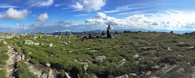 Panoramiczny widok od Retezat góry Zdjęcia Stock