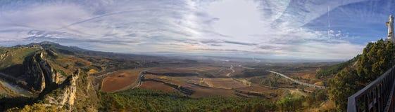 Panoramiczny widok od St Felices kaplicy fotografia royalty free