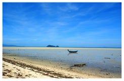 Panoramiczny widok opustoszała plaża Ko Pha Ngan fotografia royalty free