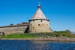Panoramiczny widok Oreshek forteca Obrazy Royalty Free