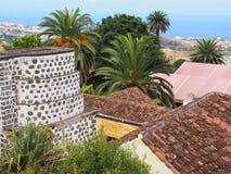 Panoramiczny widok Orotava w Tenerife z historycznym młynem fotografia royalty free