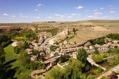 Panoramiczny widok otoczenia przy Alcazar Segovia kasztel, Hiszpania Obraz Stock