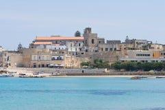 Panoramiczny widok Otranto. Puglia. Włochy. zdjęcia stock