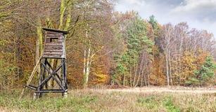 Panoramiczny widok łowiecka ambona Obrazy Royalty Free
