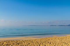 Panoramiczny widok Palmy plaża, Mallorca, Hiszpania fotografia stock