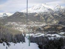 Panoramiczny widok Panticosa Hiszpania Zdjęcia Stock