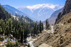 Panoramiczny widok pięknego góra krajobrazu mała wioska amo Fotografia Royalty Free