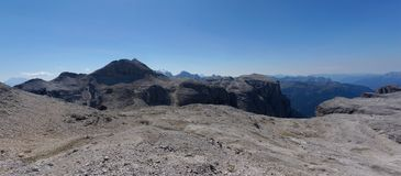 Panoramiczny widok piękny i szorstki góra krajobraz Zdjęcia Stock
