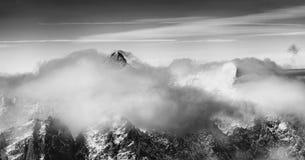Panoramiczny widok piękny krajobraz w Wysokim Tatras Fotografia Royalty Free