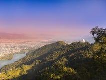 Panoramiczny widok POKHARA dolina, obraz royalty free