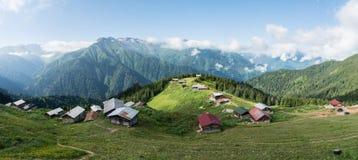 Panoramiczny widok Pokuta plateau w Blacksea karadeniz, Rize, Turcja Fotografia Royalty Free