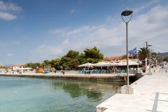Panoramiczny widok port Nikiti przy Sithonia półwysepem, Chalkidiki, cent Obraz Royalty Free