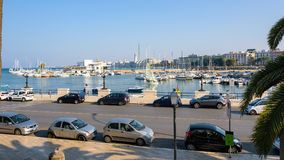 Panoramiczny widok port w Bari Zdjęcia Royalty Free