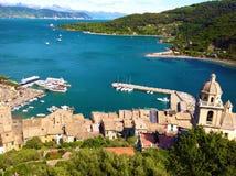 Panoramiczny widok Portovenere Obraz Royalty Free