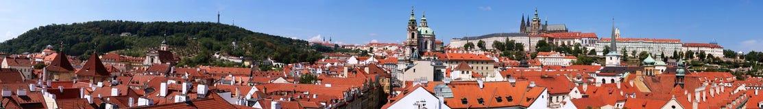 Panoramiczny widok Praga republika czech obraz royalty free