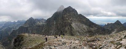 Panoramiczny widok przy dużą wysokością zdjęcie stock